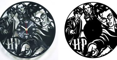 Dxf file HARRY POTTER Vinyl Record Clock cnc vector - Ready to Cut