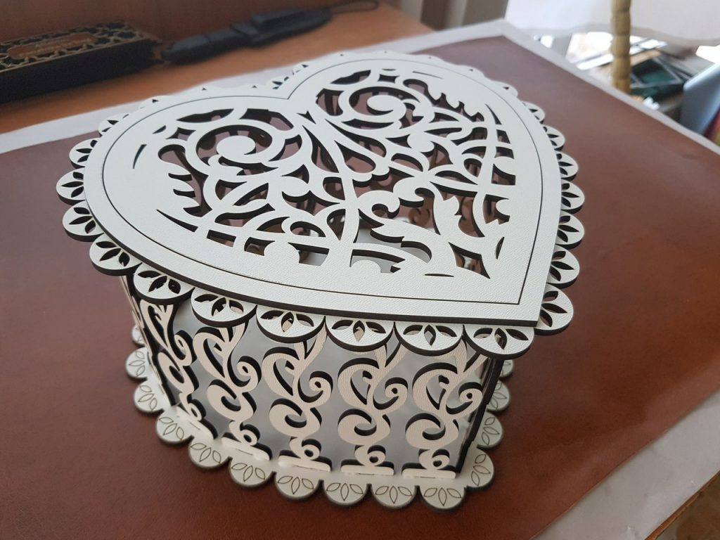 Box Heart Free cdr Files For CNC Plasma Laser Cut - FreeVector