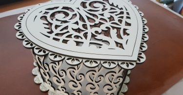 Box Heart Free cdr Files For CNC Plasma Laser Cut