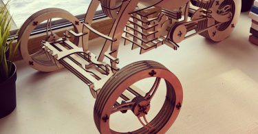 Cdr file Plywood Bike For CNC Plasma Laser Cut