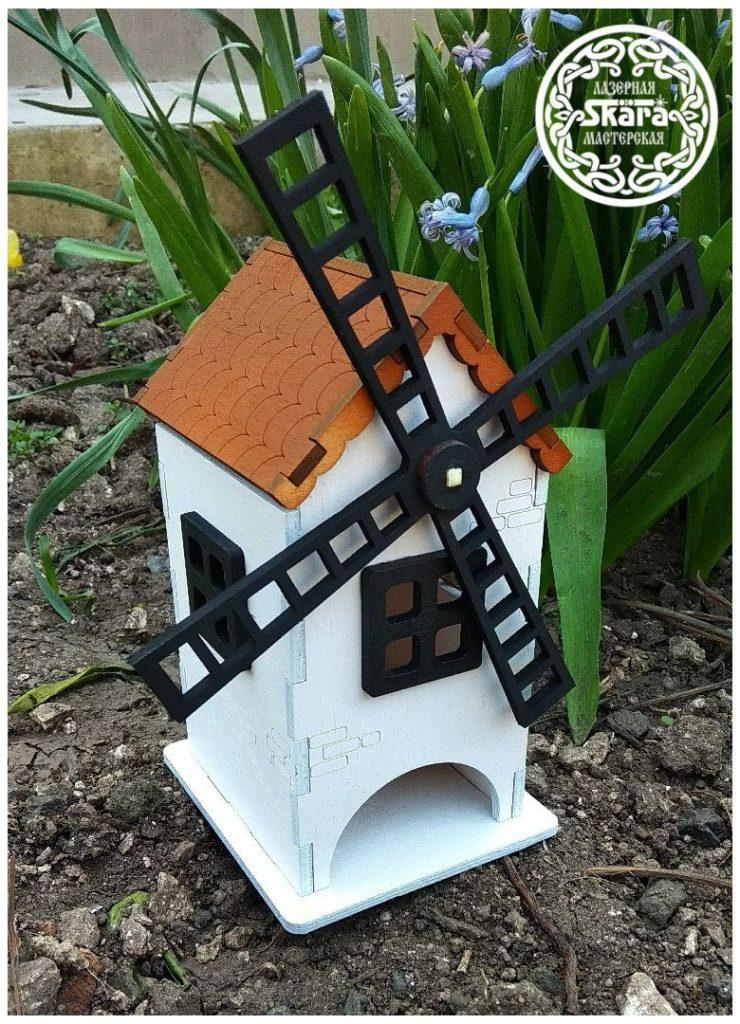 Cdr file Windmill tea house for lasercut cnc vector