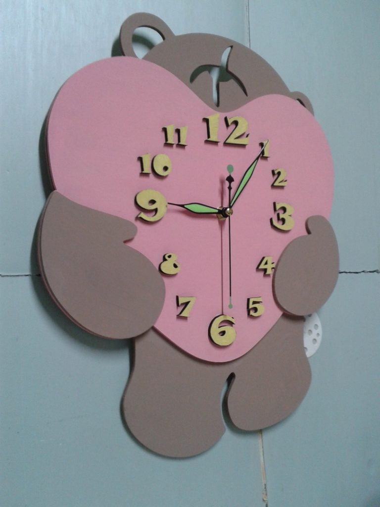 Clock cdr file corel draw file format wooden clock