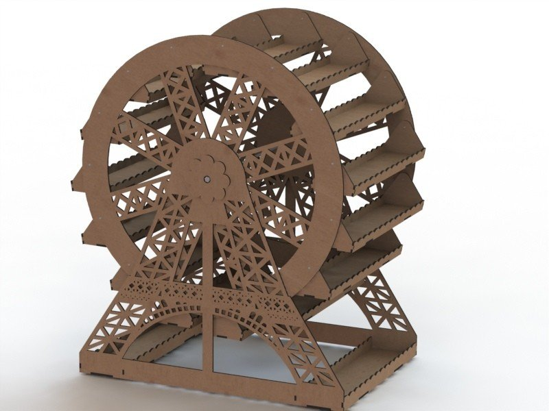 Dxf file ferris wheel CNC Projects Free Vectors Download Dxf file