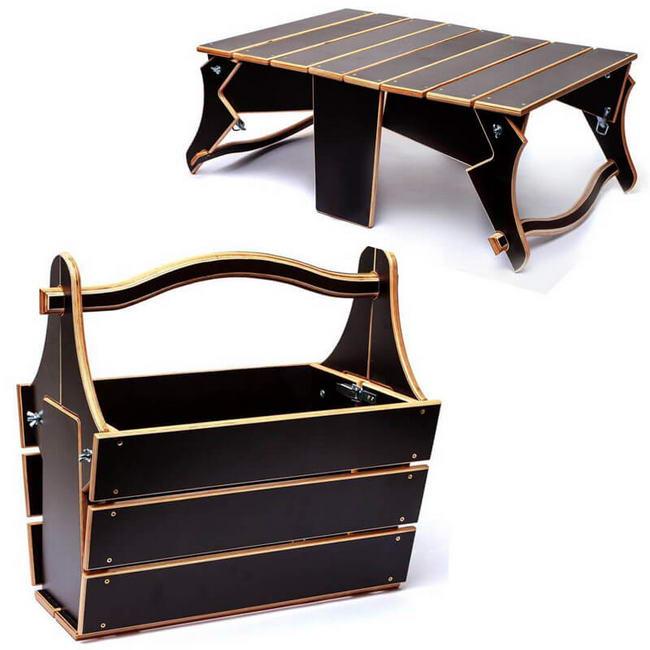 Folding Picnic Table Plans Laser cut cdr file cnc router design files