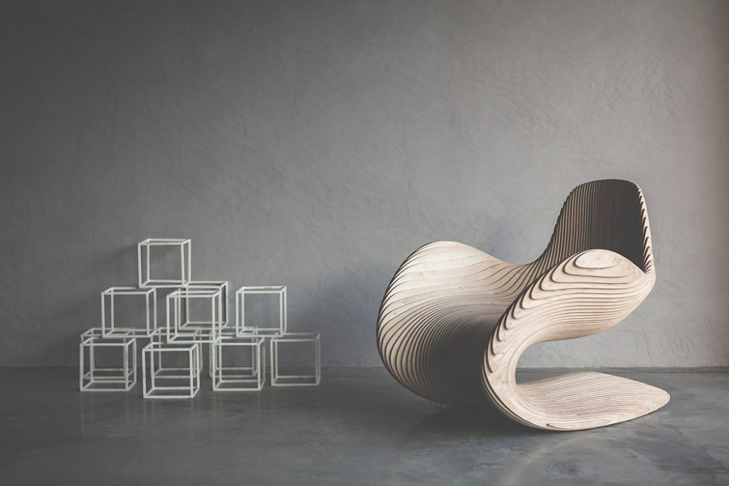 Cdr file Betula Chair ready to cut on your CNC Router