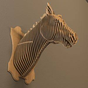 Horsehead DXF file for CNC laser, plasma cutter or router