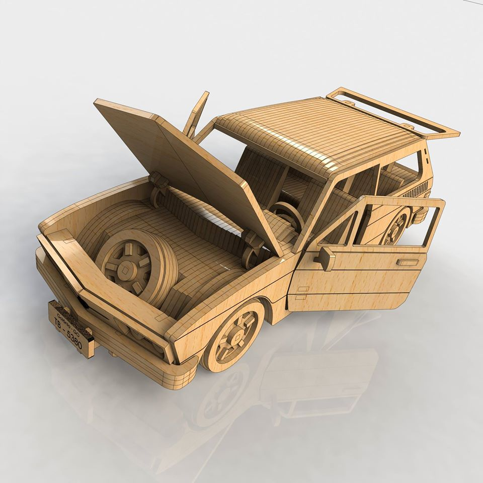 Car 3d Puzzle Dxf Free Download Laser Cut Projects