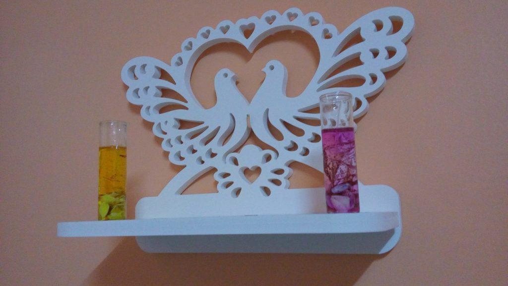 Decorative Bird Heart Shelf DXF File Free Download