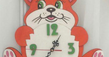 Laser cutting clock