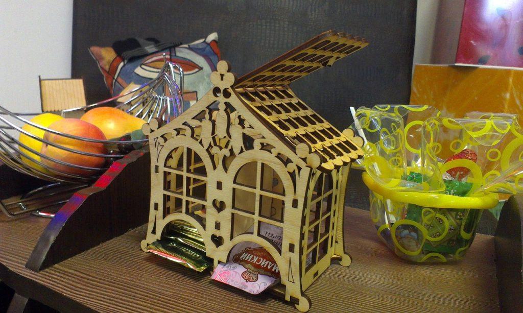 Tea house 3d puzzle laser cutting file format download