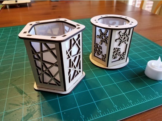 Laser Cut Candle Holder Lantern laser cut ideas download