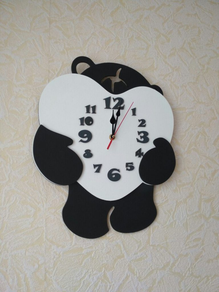 New DXF file wall clock vector for CNC laserrouter cutting