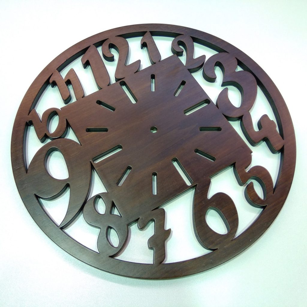 Wooden clock vector free download laserrouter cutting