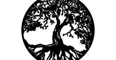 Beautiful tree of life vector dxf files download