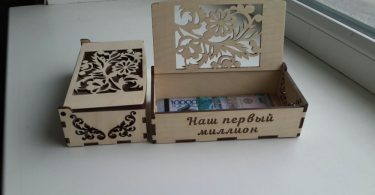 Laser cut box design for laser cutting