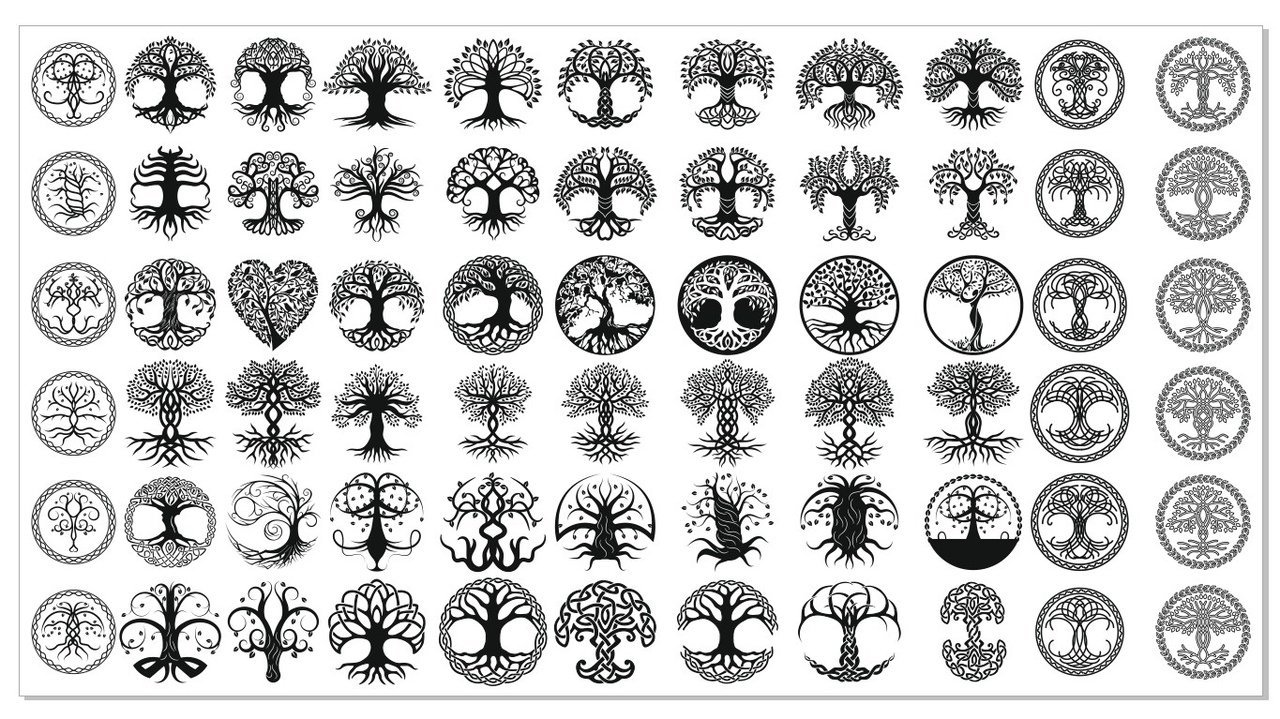 DXF CDR File For CNC PLASMA LASER & ROUTER Cut -DXF Files Tree of life