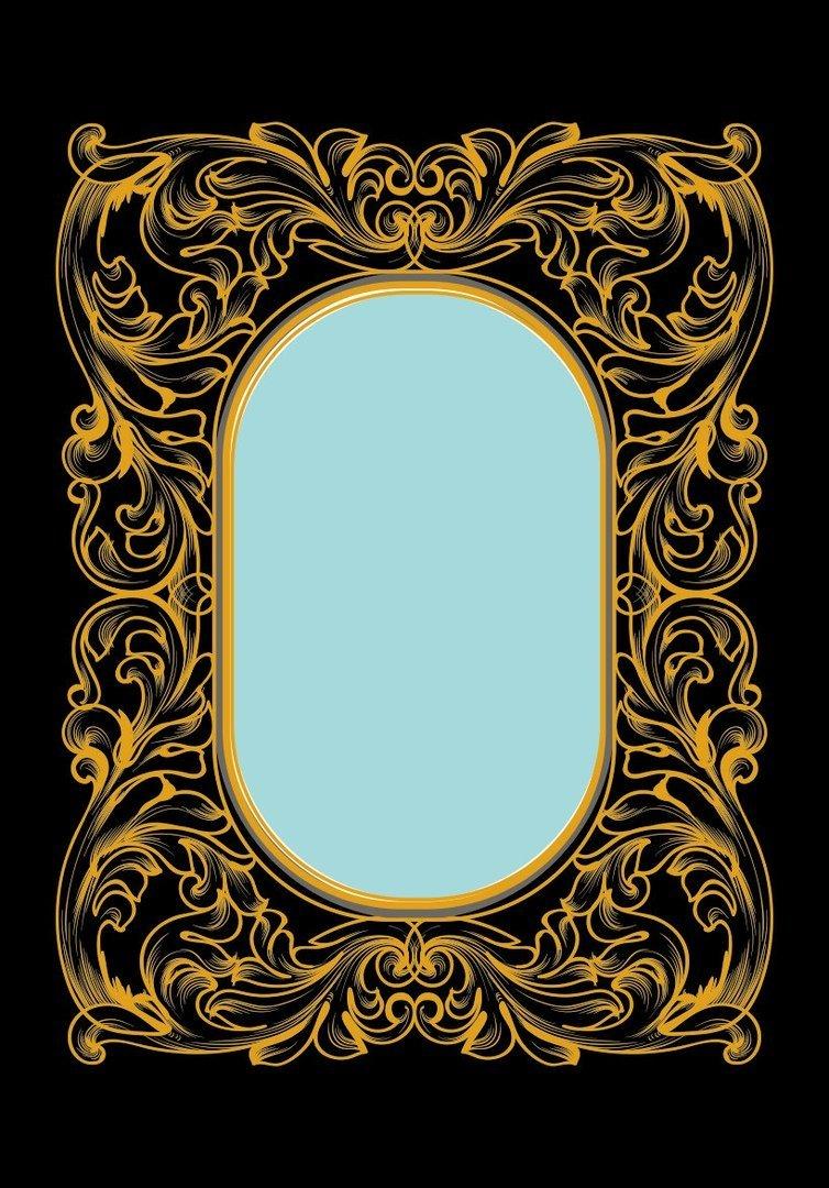 Free Vector Frames Modern Frame Vector Gold