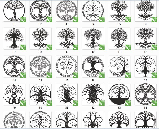 ee Vector DXF File For CNC PLASMA LASER ROUTER Cut Tree of life