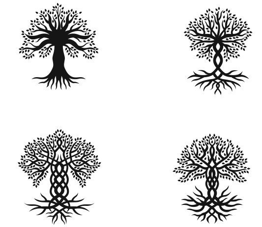 Tree Vector DXF File