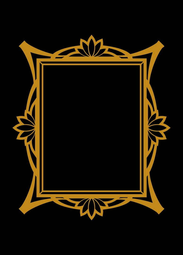 frame gold vector DOWNLOAD