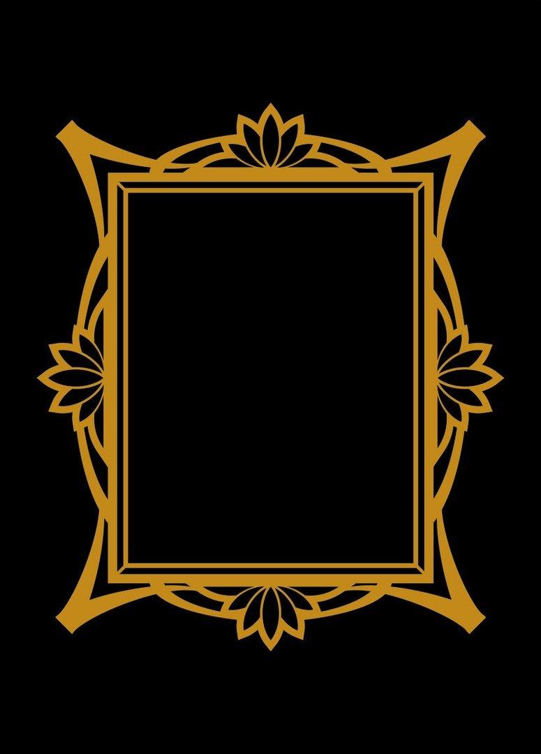 frame gold vector DOWNLOAD