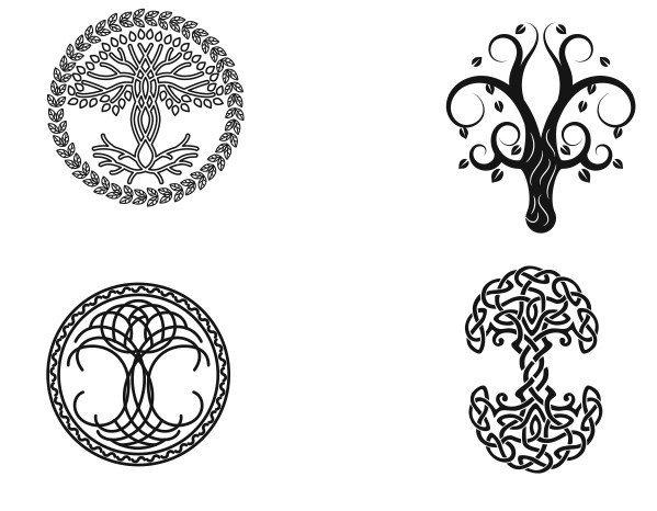 laser cut tree designs