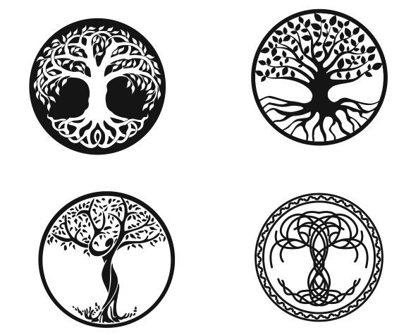 laser cut tree designs