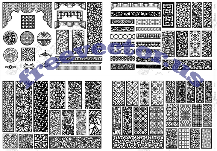5GB CNC Vector Free DXF Downloads CNC Patterns Free DXF Files