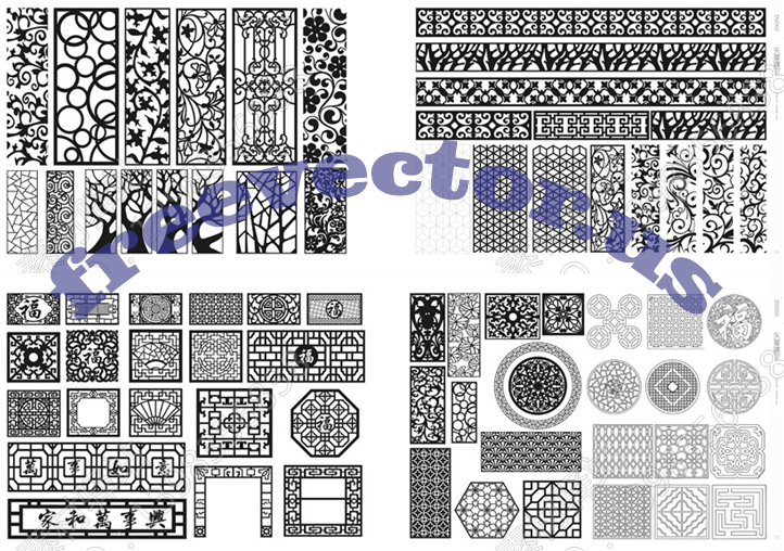 5GB CNC Vector Free DXF Downloads | CNC Patterns Free DXF