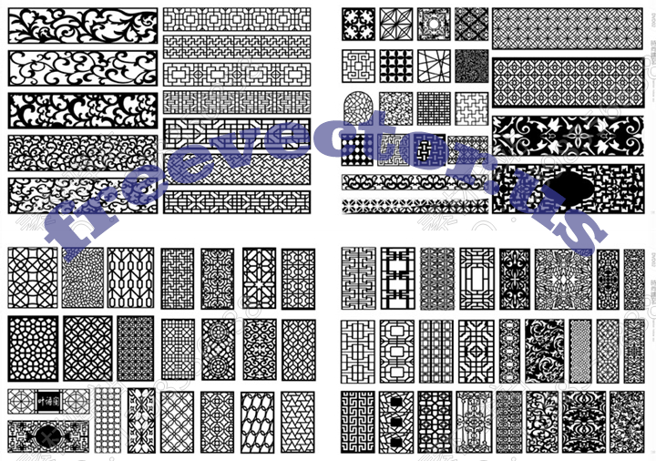 CNC Vector Free DXF Downloads CNC Patterns
