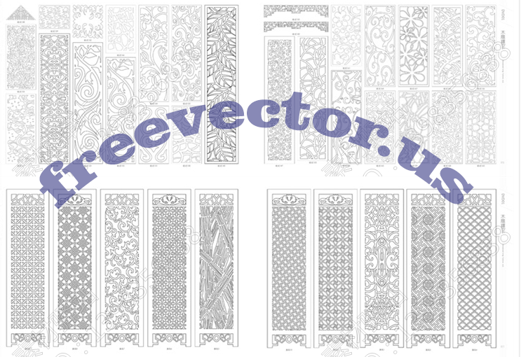 cnc vector dxf files free