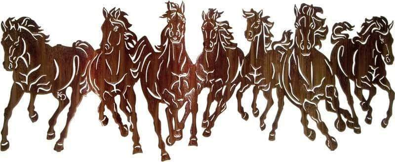 laser cut horse