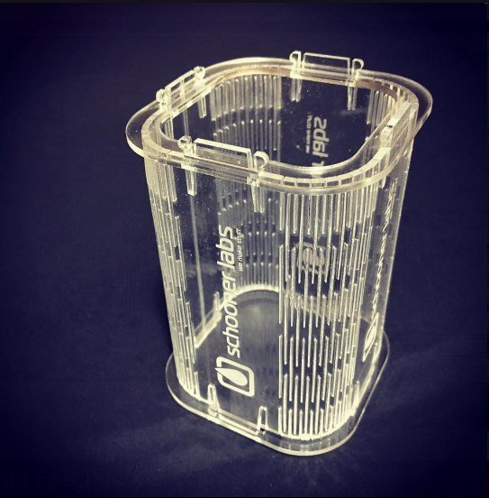laser cut acrylic Pen Stand 3mm DXF File