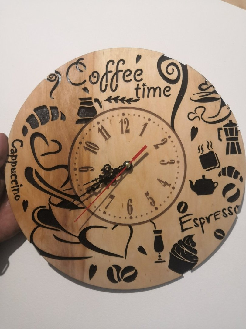 laser cut clock