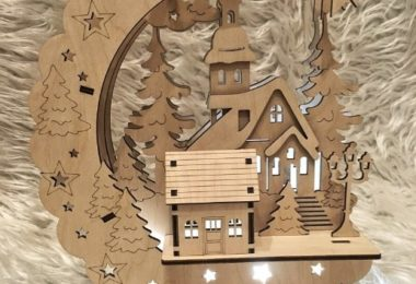 Christmas House Laser Cut