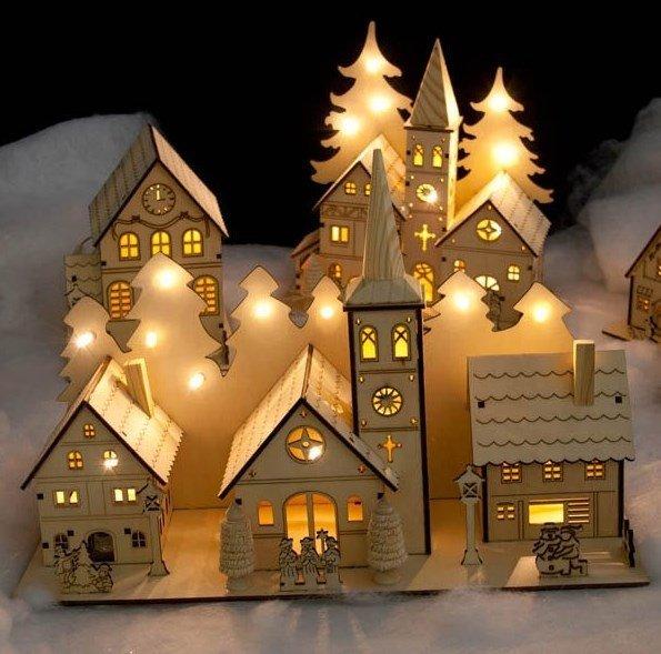 Santa Christmas house dxf