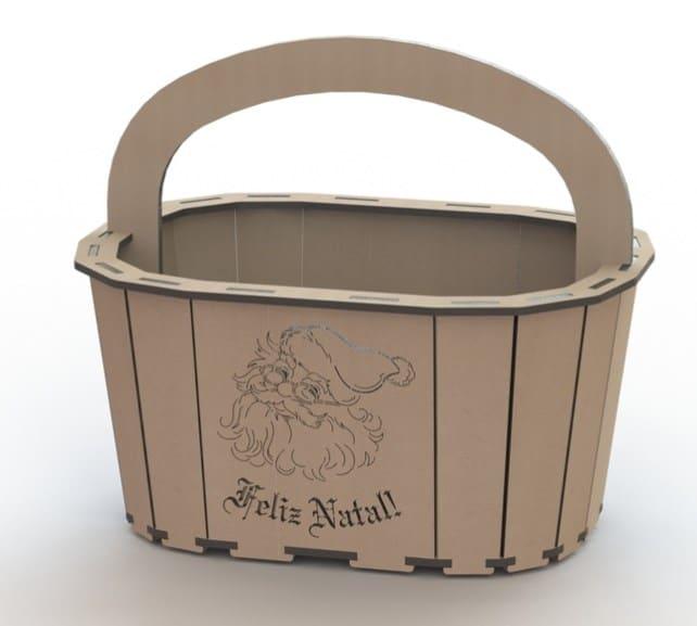 laser engrave storage basket