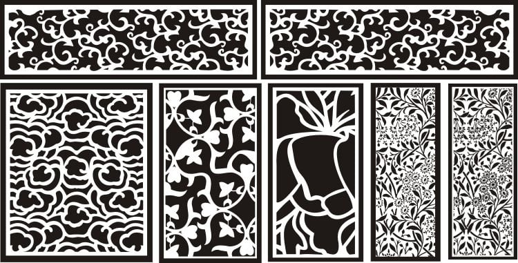 Laser Cut Patterns DXF Download ,Laser Cutting Designs