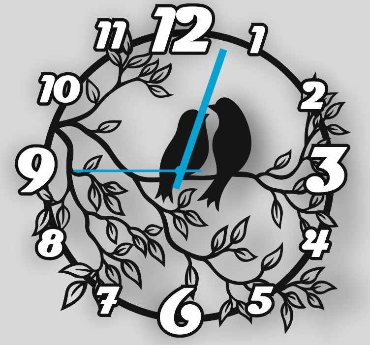Laser cut Vinyl Clock Vector free