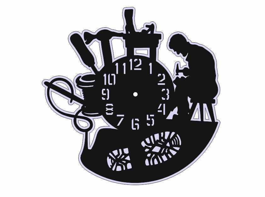 Laser cut Vinyl Clock