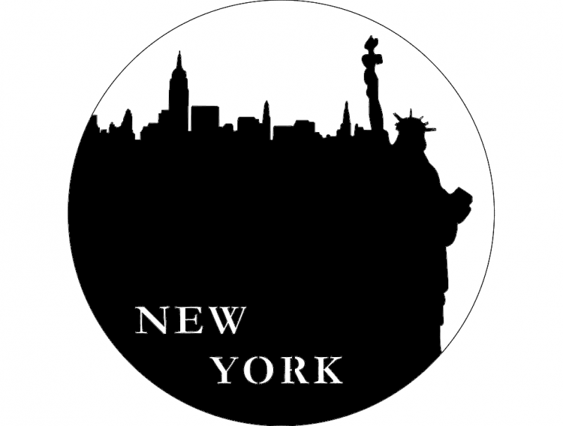 New York clock dxf laser cut