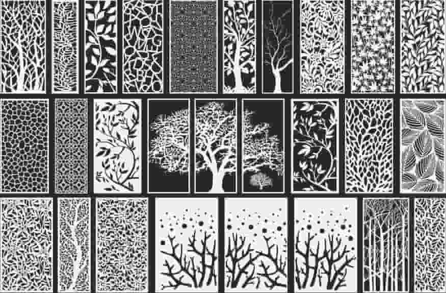 laser cut screens Decorative Panels Free download 1