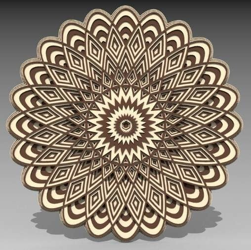 mandala 3d laser cut models download