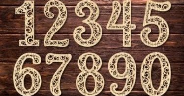 laser cut numbers
