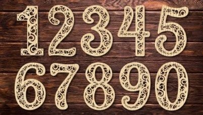 laser cut numbers