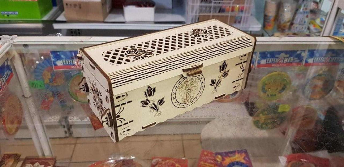 laser cut wood box