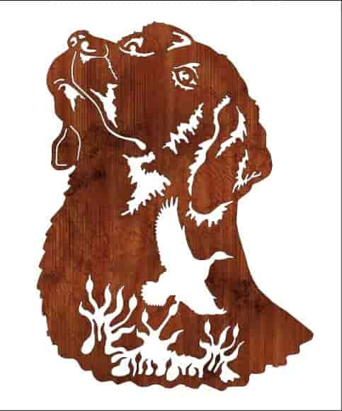 Engraving Dog Vector