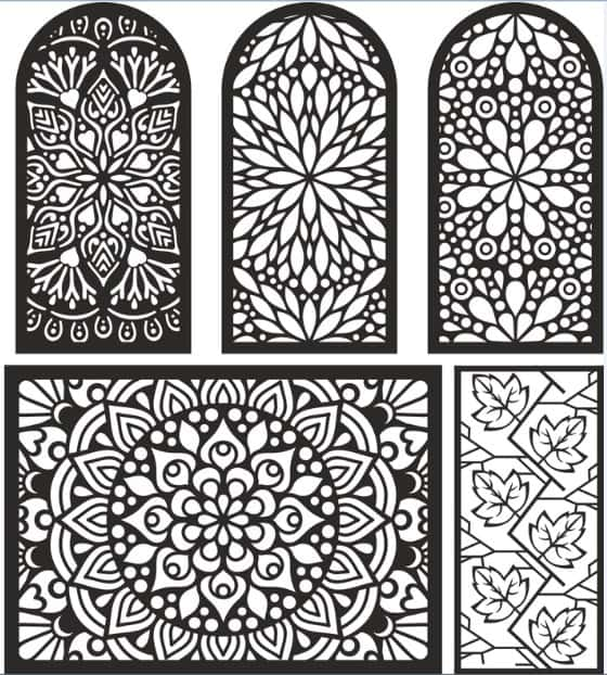 Lasercut Vector Cnc Patterns Wood Free Download Freevector