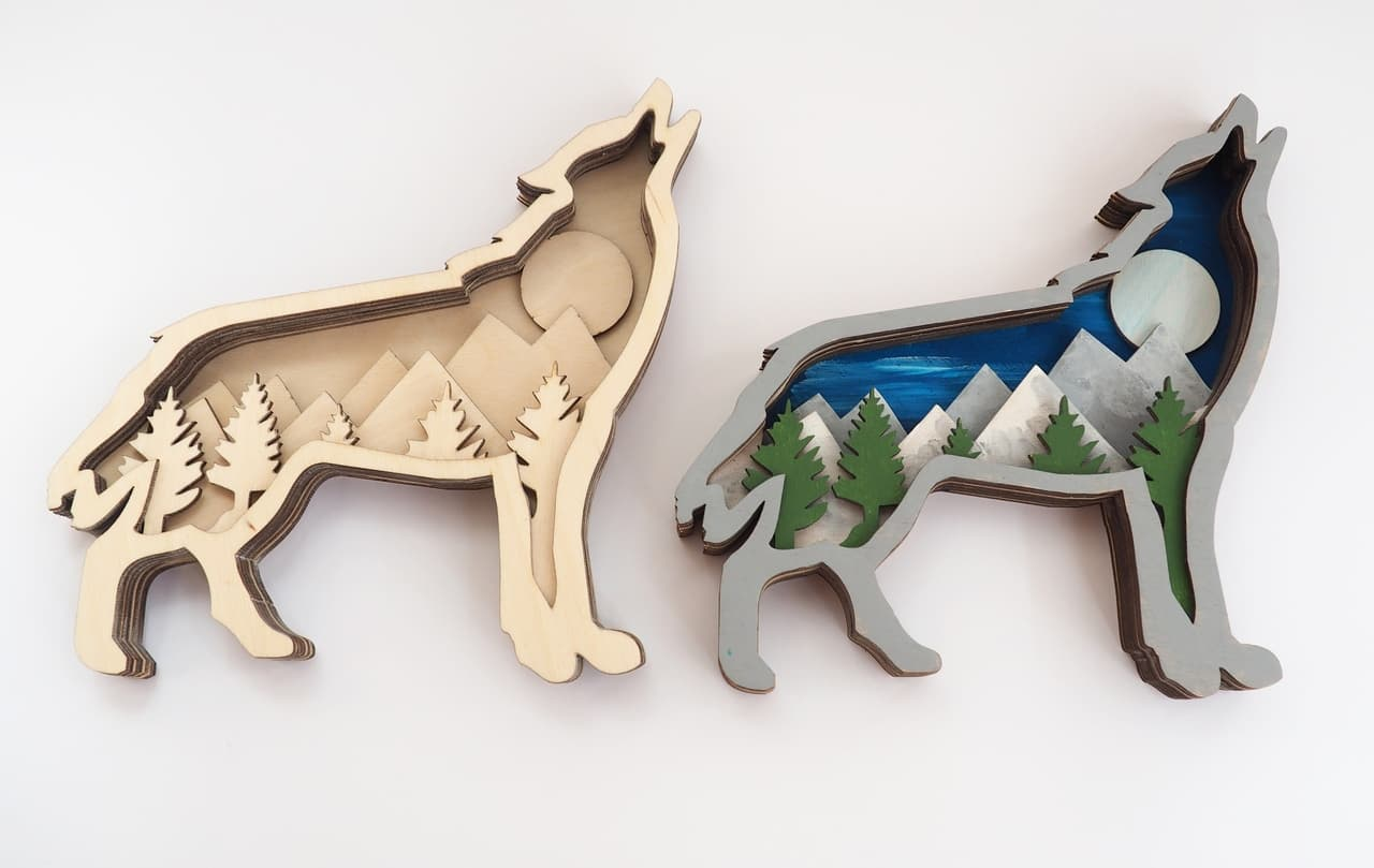 free wolf dxf files