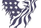 Eagle american flag dxf